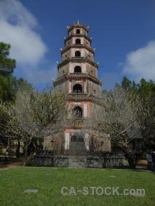 Asia vietnam southeast sky thien mu pagoda.