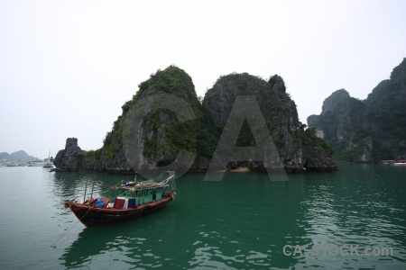 Asia vietnam water sea mountain.