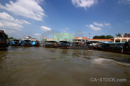Asia water river song tien mekong delta.