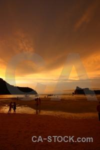 Asia water sunrise bay thailand.