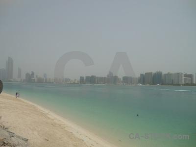 Asia western asia beach sea abu dhabi.