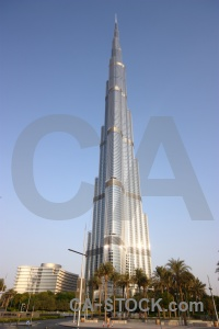 Asia western palm tree middle east burj khalifa.