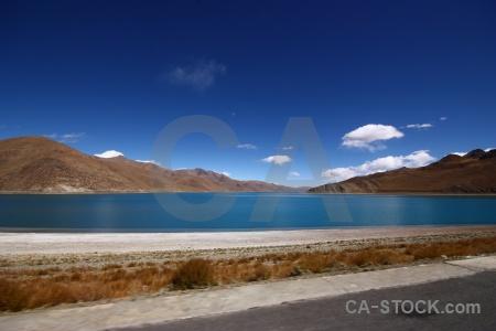 Asia yamdrok lake tibet east asia yumtso.