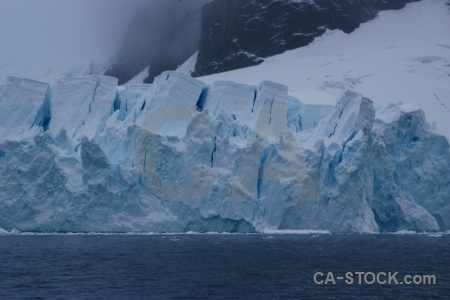 Astudillo glacier sea snow ice antarctica.