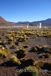 Atacama desert andes steam sky sand.