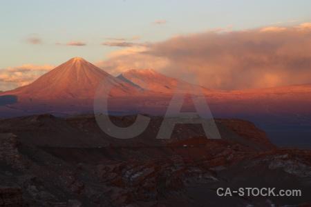 Atacama desert chile stratovolcano landscape rock.