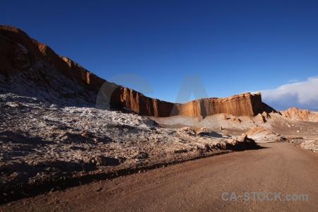 Atacama desert cloud cordillera de la sal valle luna salt.