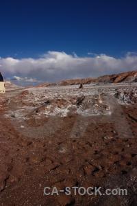 Atacama desert cloud rock landscape cordillera de la sal.