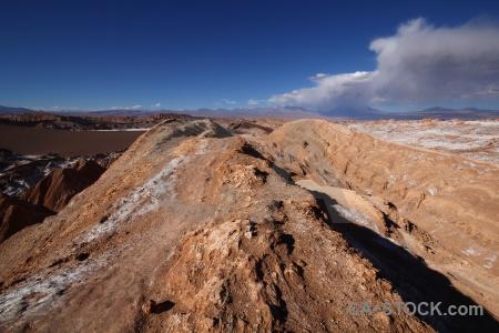 Atacama desert landscape sky cordillera de la sal south america.
