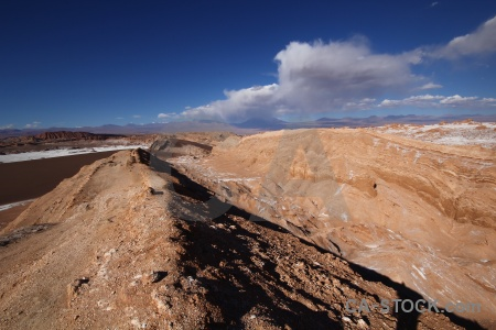 Atacama desert rock landscape south america valley of the moon.