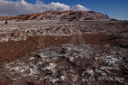 Atacama desert salt landscape cloud valle de la luna.
