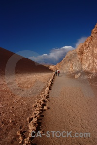 Atacama desert salt valle de la luna person valley of the moon.