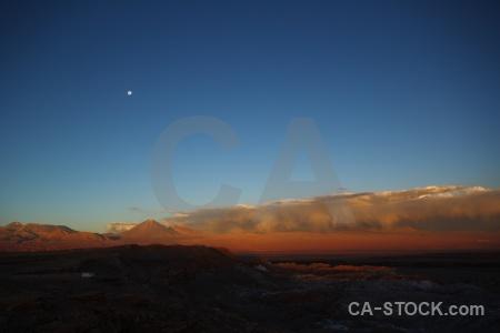 Atacama desert san pedro de atacama juriques valle la luna sky.