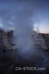 Atacama desert sky geyser south america chile.