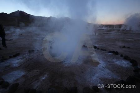 Atacama desert steam andes sky south america.