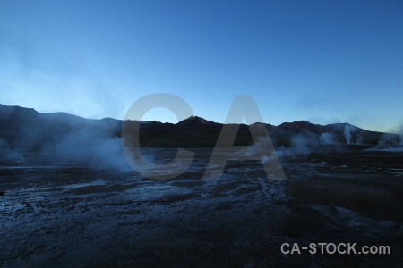 Atacama desert steam el tatio sky mountain.