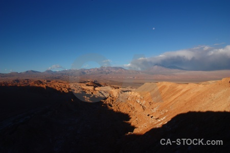 Atacama desert valley of the moon landscape sky south america.