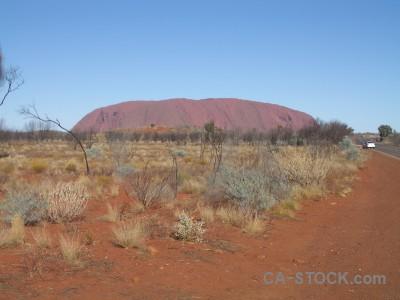 Australia cliff ayers rock uluru desert.