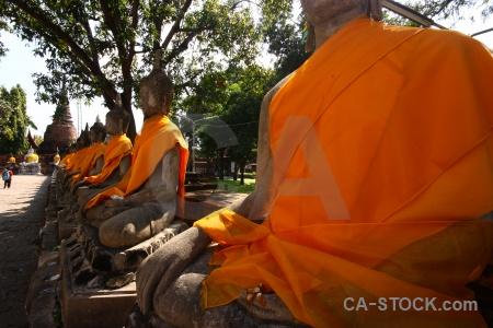 Ayutthaya phra chedi chaimongkol temple wat yai chai mongkhon buddhist.