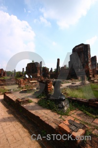 Ayutthaya thailand chedi unesco temple.