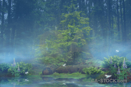 Backgrounds blue premade green fantasy.