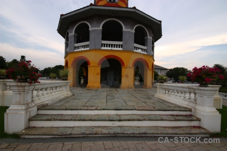Bang pa in building asia southeast ayutthaya.