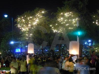 Bangkok light festival southeast asia loi krathong.