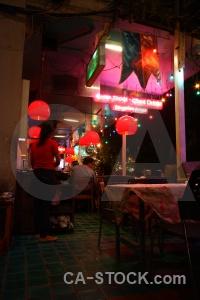 Bangkok neon asia restaurant light.