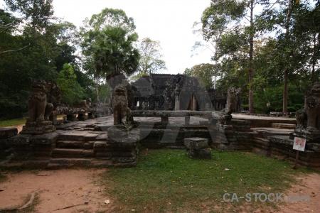Banteay kdei cambodia sky unesco ruin.