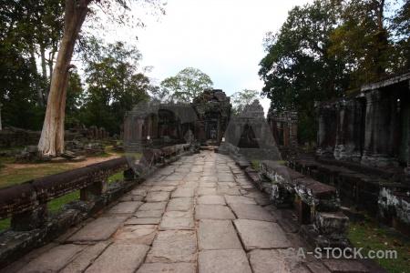 Banteay kdei khmer buddhist cambodia lichen.