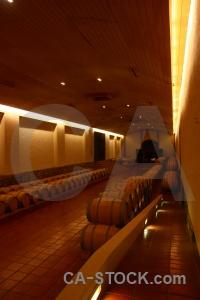 Barrel cellar chile vineyard inside.