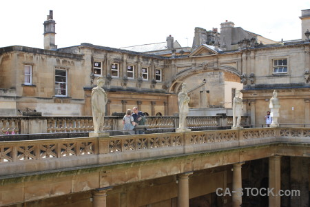 Bath europe person roman baths uk.