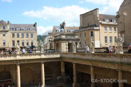 Bath roman baths person uk building.
