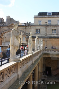 Bath uk roman baths europe person.