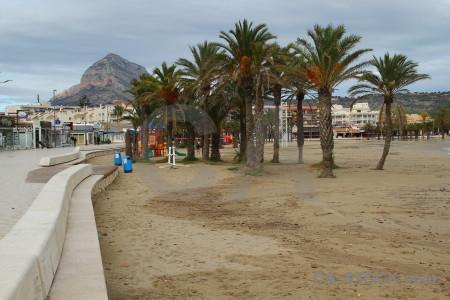 Beach arenal sand spain europe.