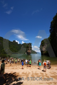 Beach cloud phang nga bay james bond sea.