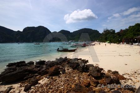 Beach ko phi don boat island thailand.