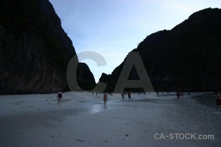 Beach limestone ko phi ley island water.