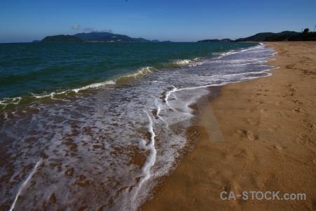Beach nha trang southeast asia water foam.