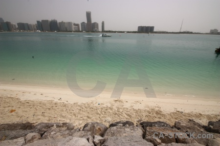 Beach sand middle east sky uae.