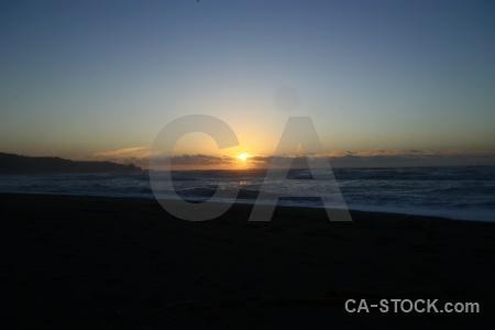 Beach sea sunrise cloud sunset.