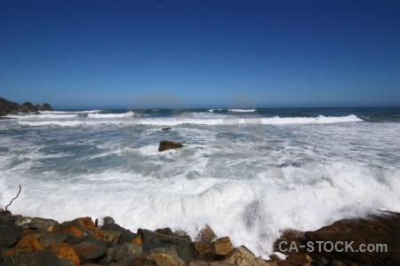 Beach sky sea wave rock.