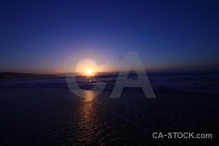 Beach sky sunrise sun wave.