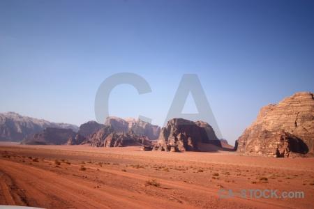 Bedouin wadi rum mountain sand desert.