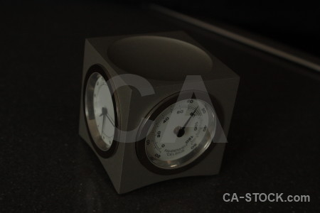 Black clock object.