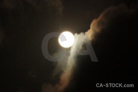 Black cloud moon.