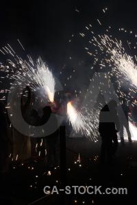 Black correfocs fiesta javea firework.