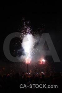 Black correfocs javea firework spain.