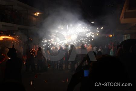 Black europe firework correfocs spain.