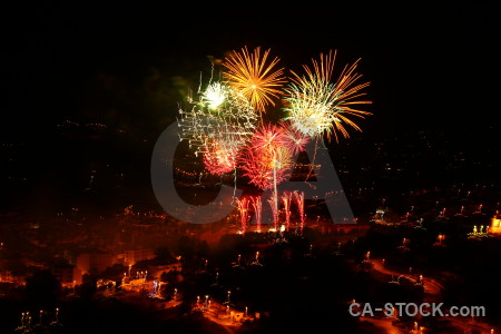 Black europe spain firework night.